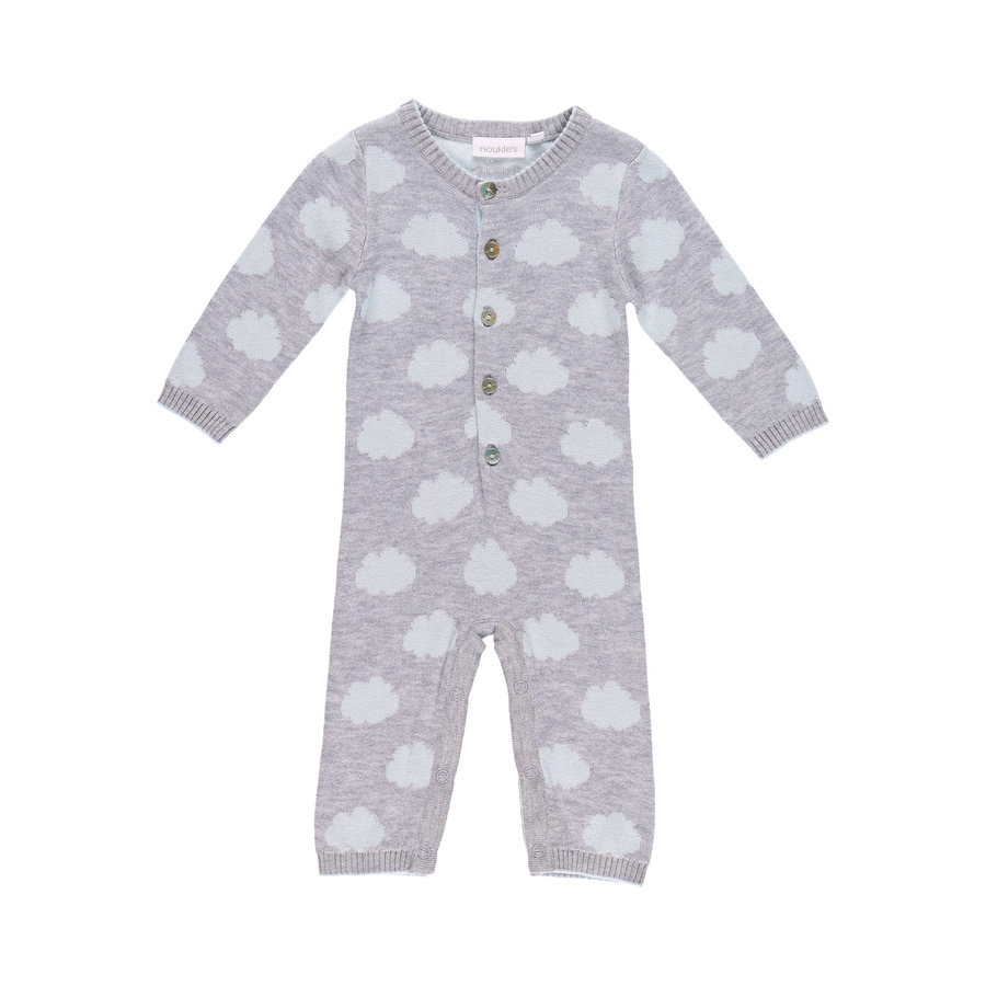 noukie's Boys Overall Cocon grey and blue