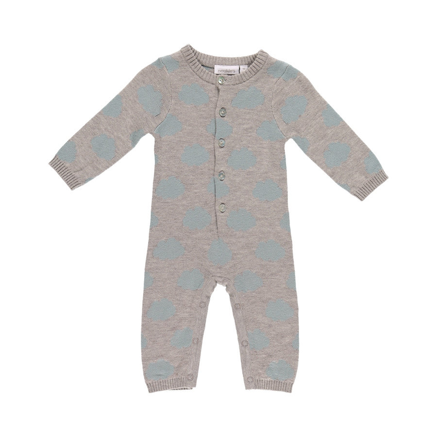 noukie´s Boys Overall Cocon grey and aqua