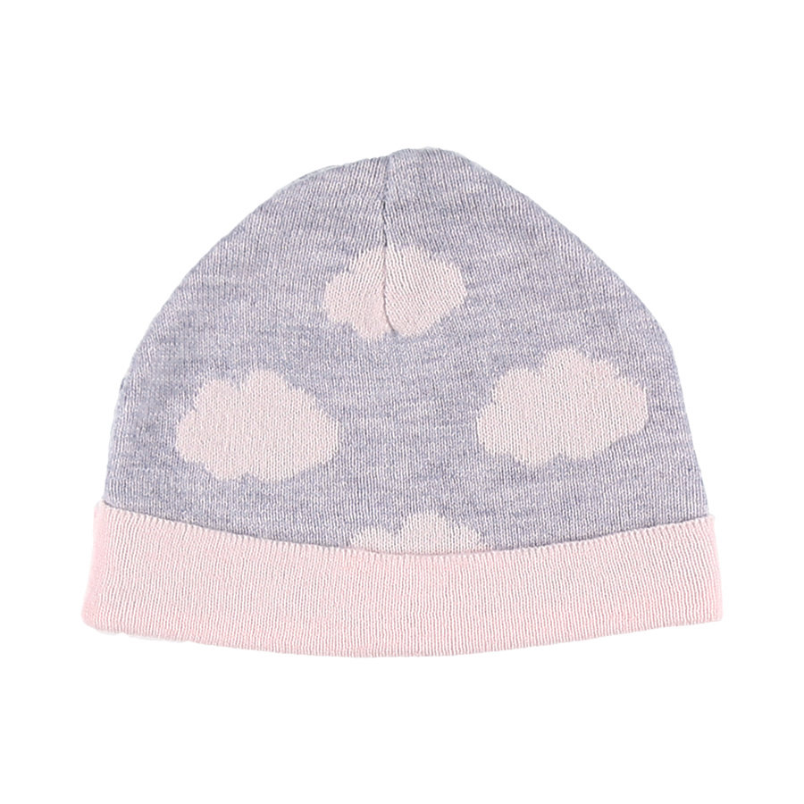 noukie´s Girls Mütze Cocon grey and pink