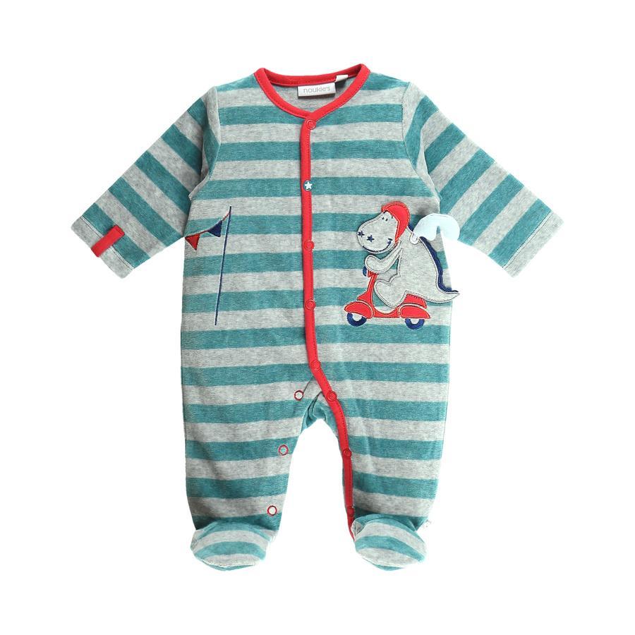 noukie Boys 's pyjama's eendelige strepen uit één stuk