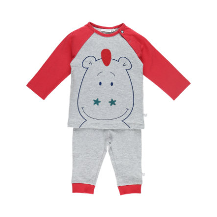 noukie Boys 's 2-delige pyjama met turkoois gestreepte mergelstreep