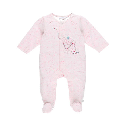 noukie Girl 's Pajamas 1-delig wit/roze