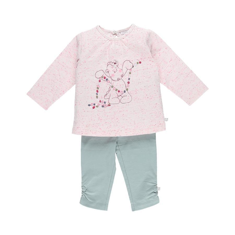 piżamy noukie Girl 's piżamy 2-częściowa biel akwa-biała