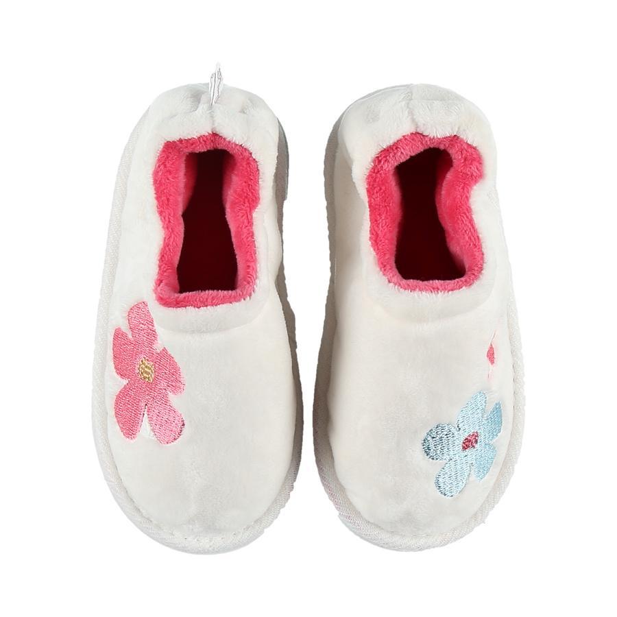 noukie's kruipende schoen van noukie Girl 's witte fushia...