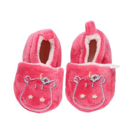 Noukie's Girls crawling shoes fushia