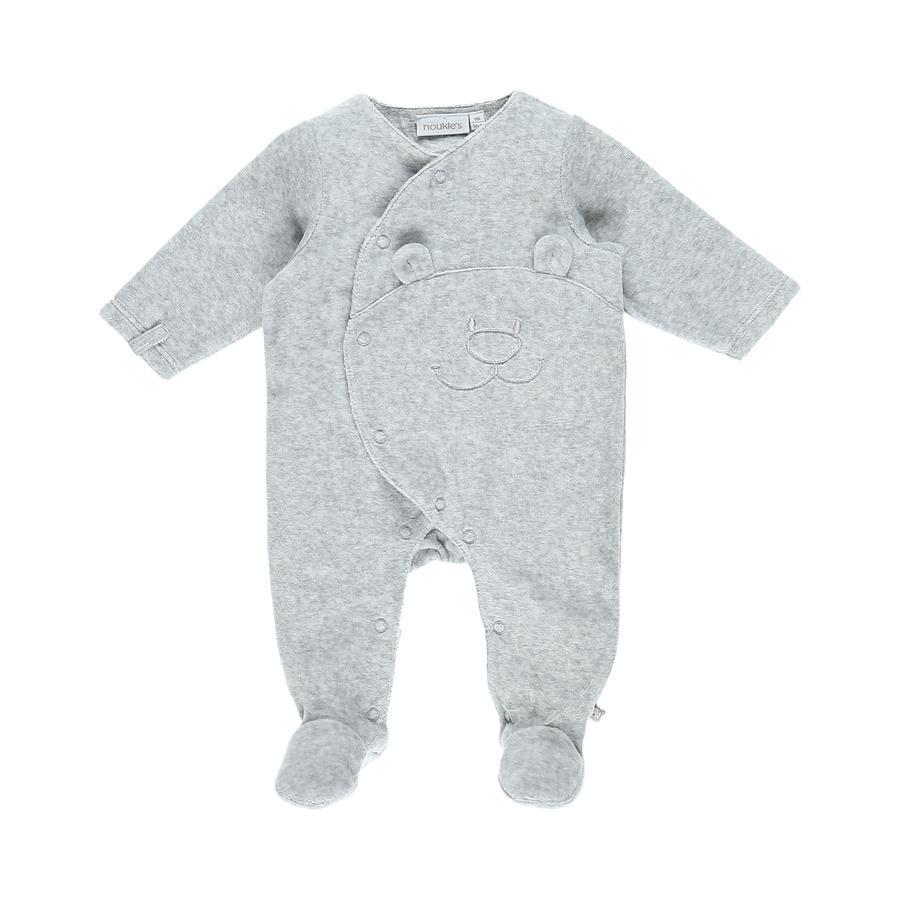 noukie Boys 's pyjama's 1-delige mergelgrijs