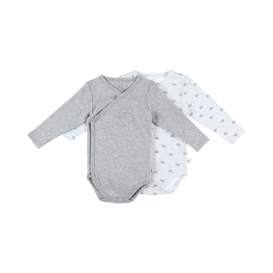 noukie's Body 2 pack Marl grey white