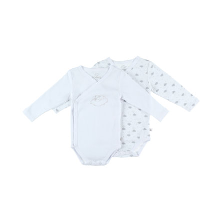 Noukie's Body 2 pack white aop