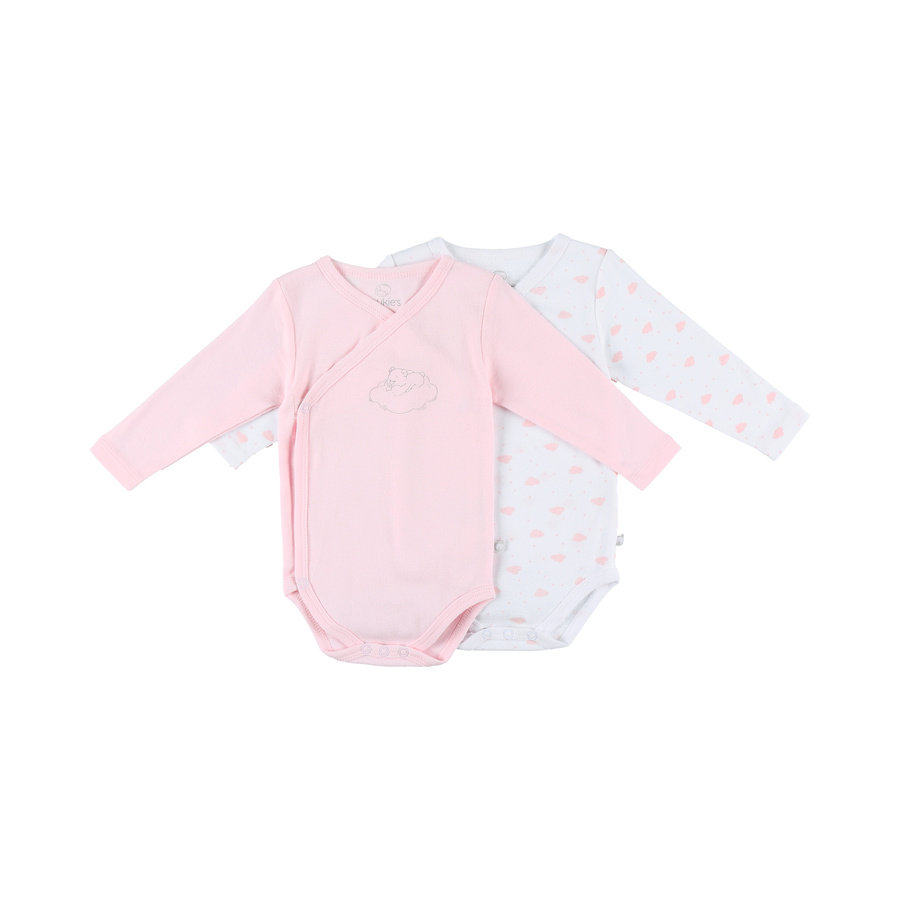 Body 2er Pack noukie Girl 's Body 2er Pack rosa chiaro bianco