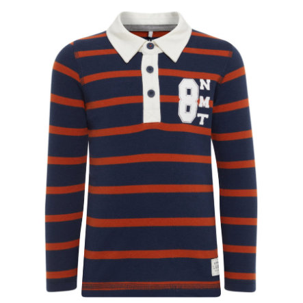 name it Boys Polo Langarmshirt Diant dress blues