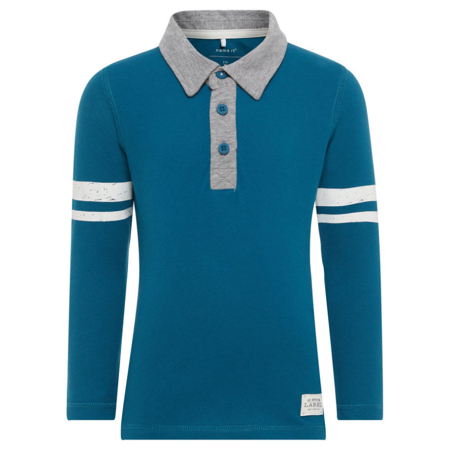 name it Boys Polo Langarmshirt Diant lyons blue