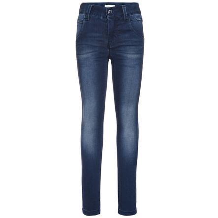 name it Girl s Classic pantalones vaqueros azul oscuro