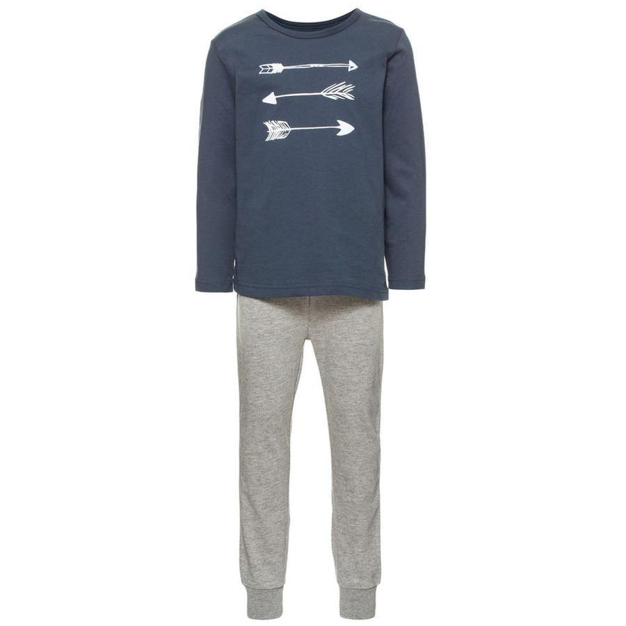 NAME IT Boys Mini Pyžamo dvoudílné - bright white