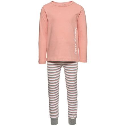 NAME IT Girls Mini Pyžamo dvoudílné - bright white