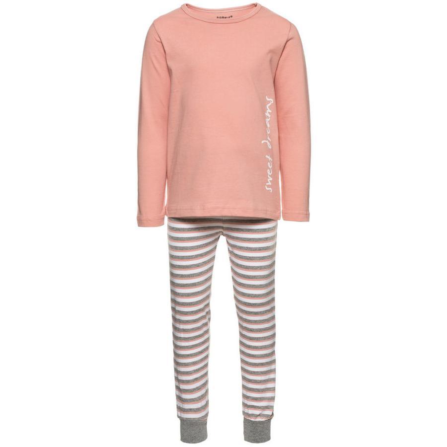 name it Girls Schlafanzug 2-teilig rose tan