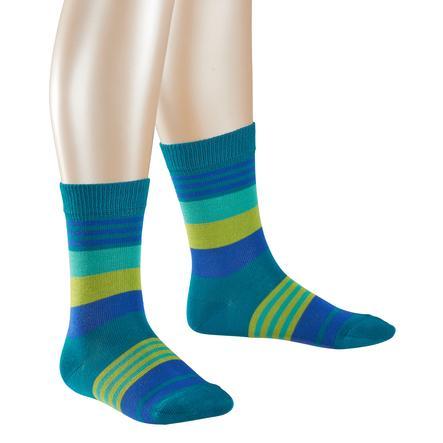 FALKE Socken Stripes fjord