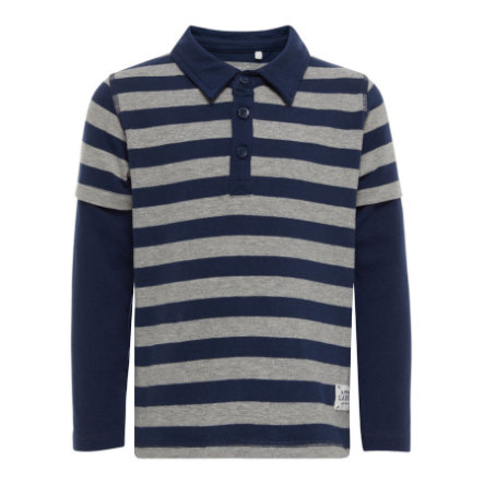 name it Boys Poloshirt Streifen dress blues