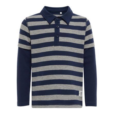name it Boys Poloshirt strepen jurkje blauw