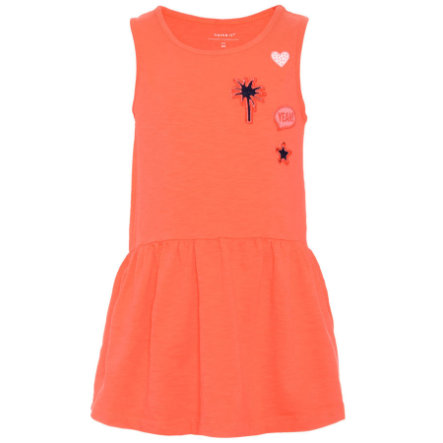 name it Girls Kleid fiery coral