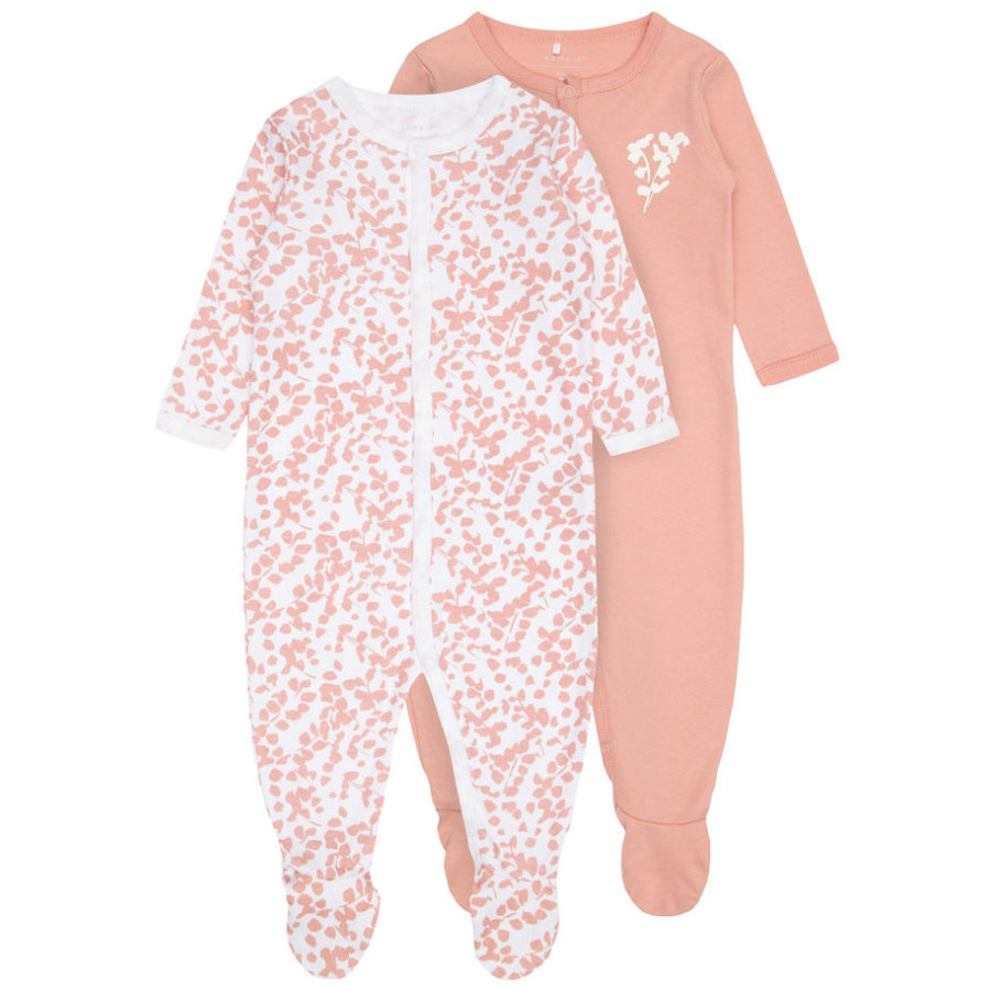 name it Girls Schlafoverall 2er Pack rose tan