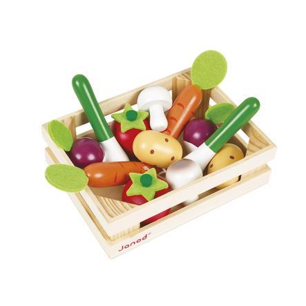 Janod® Jouet Cageot de 12 légumes, bois