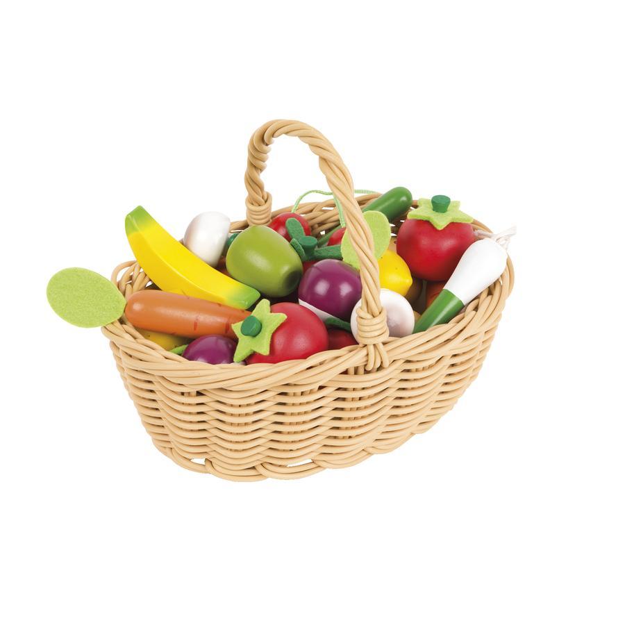 Janod® Warzywa i owoce w koszyku