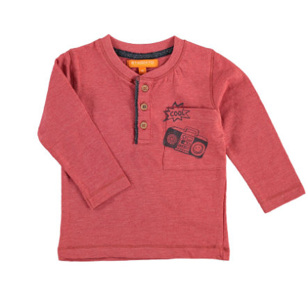 STACCATO Boys Chemise manches longues rouge melange clair