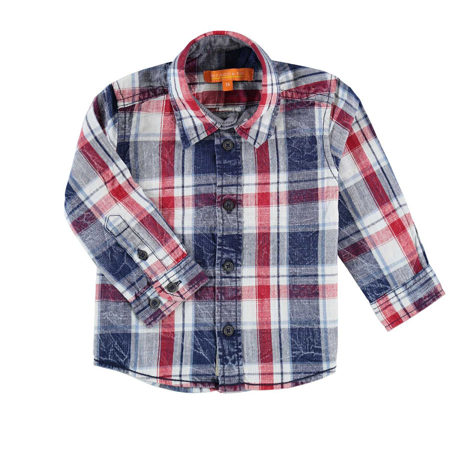 STACCATO Boys Camisa cheque azul