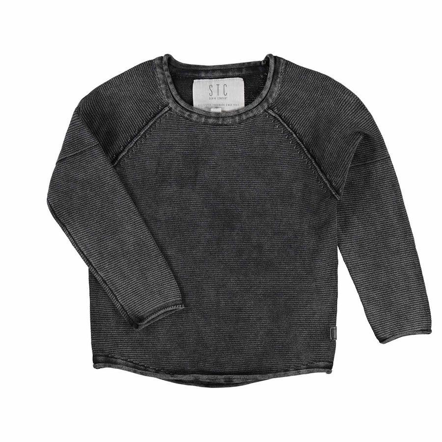 STACCATO Boys Pullover grau schwarz
