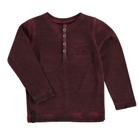 STACCATO Boys Langarmshirt deep red Streifen