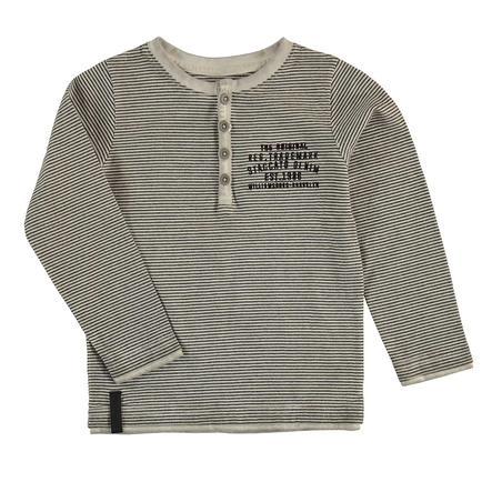 STACCATO Boys Langarmshirt grey melange Streifen