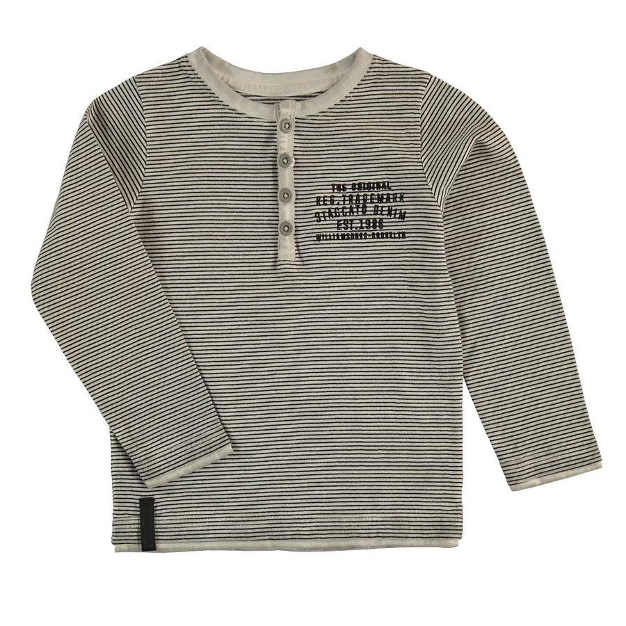 STACCATO Boys maglietta a maniche lunghe, grey melange a righe