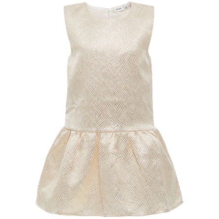 name it Girls Kleid Ines gold colour