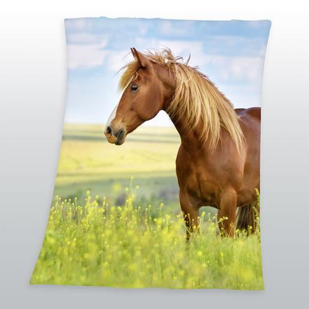 HERDING Couverture enfant cheval, 130 x 160 cm