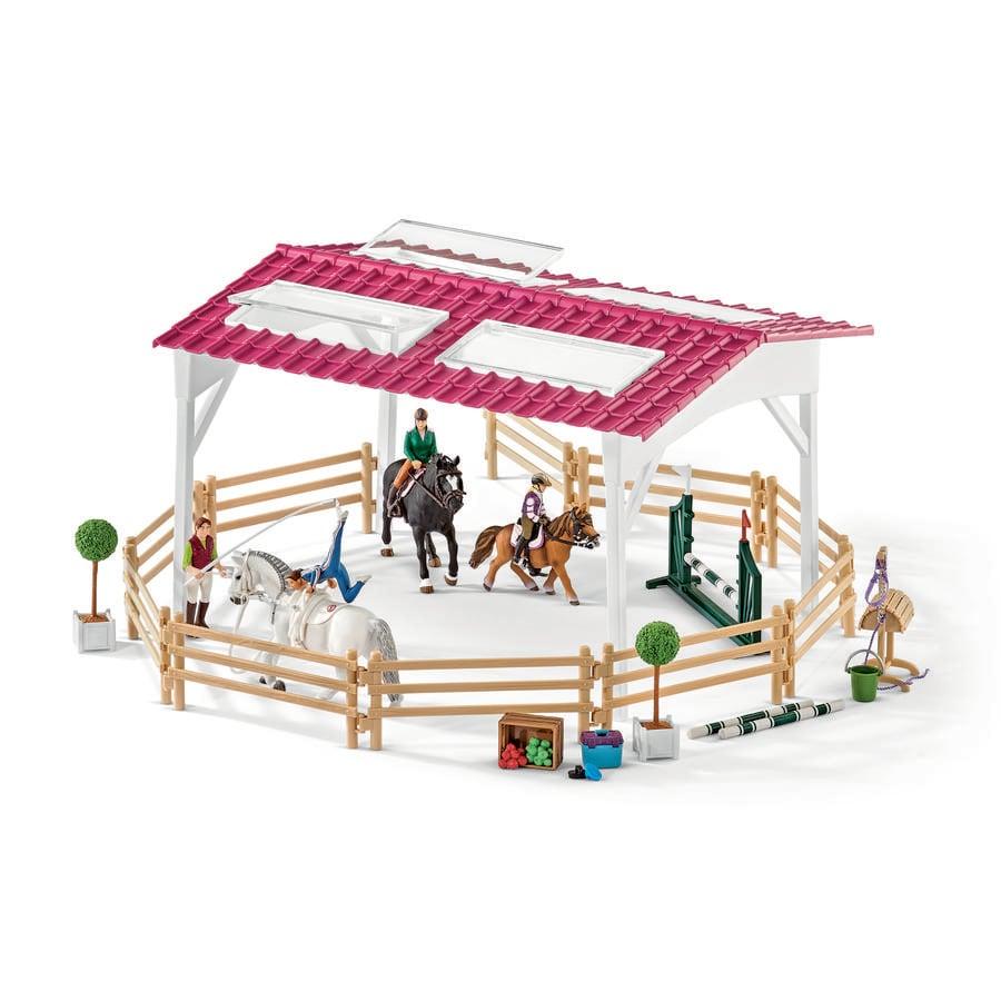 Schleich Escuela de equitación con amazonas y caballos 42389