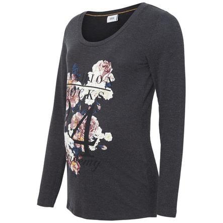 mama licious Långärmad tröja MLGEGGO Dark Grey Melange