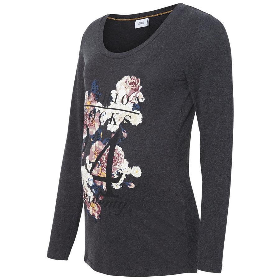 Mama Licious Langærmet t-shirt MLGEGGO Dark Grey Melange