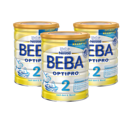 Nestlé BEBA OPTIPRO 2 Folgemilch 3 x 800 g ab dem 6. Monat
