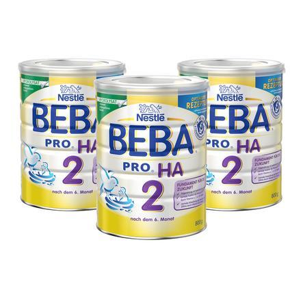 Nestlé BEBA PRO HA 2 Folgemilch 3 x 800 g