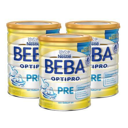 Nestlé BEBA OPTIPRO PRE Anfangsmilch 3 x 800 g