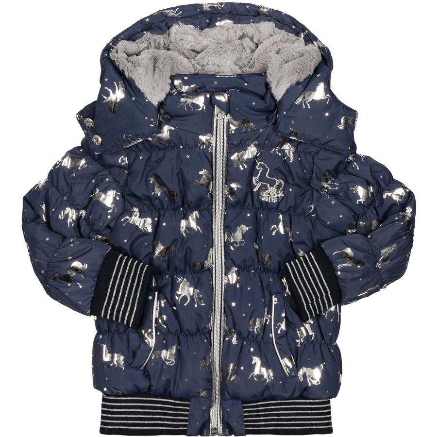 JETTE by STACCATO Girl stalowa kurtka stalowa kolor niebieski