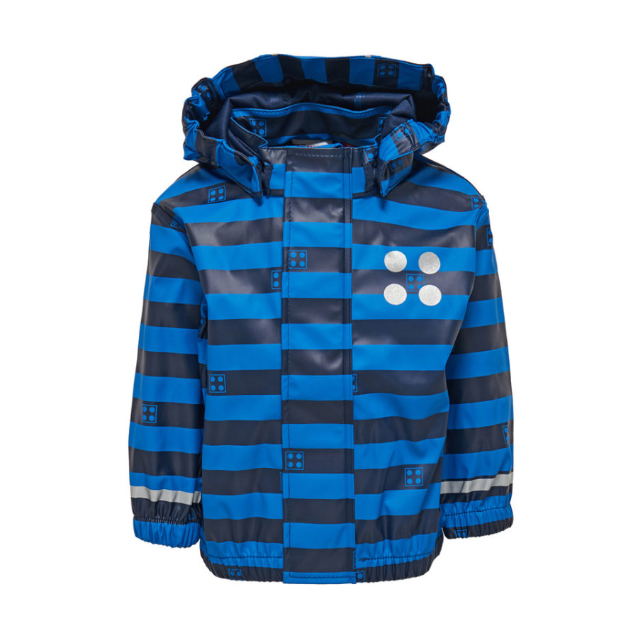 LEGO wear  Rainjacket Justice blu navy blu a righe