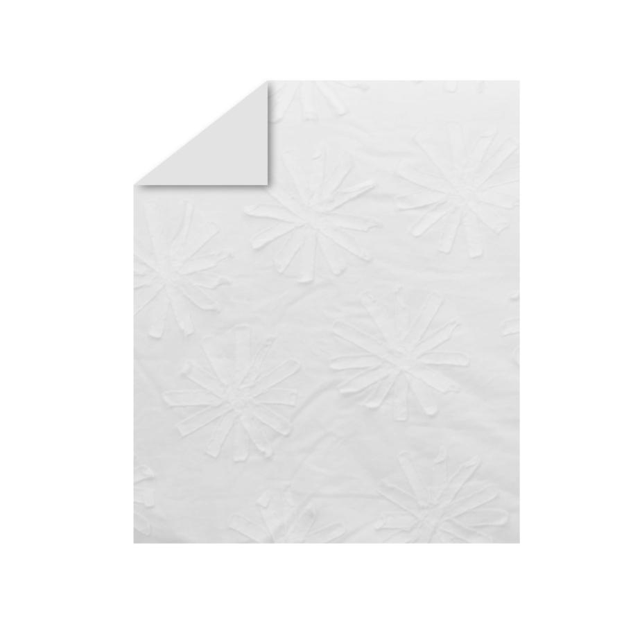 toTs by smarTrike® Édredon pure white flowers 100 x 120 cm