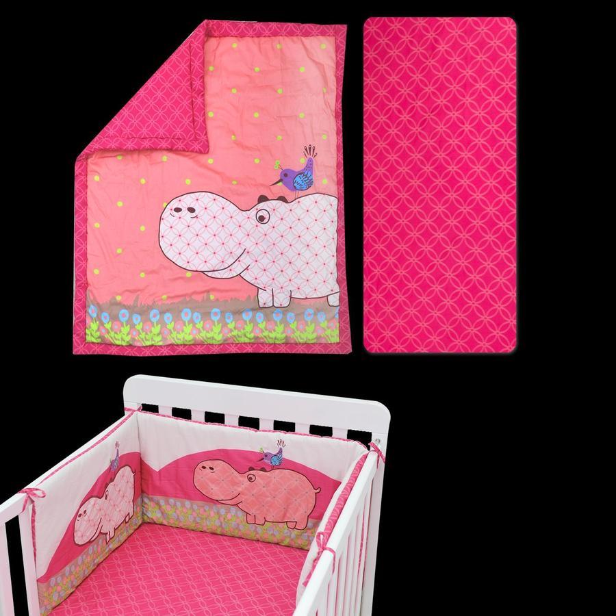 toTs by smarT rike zestaw łóżkowy Joy Hippo , pink