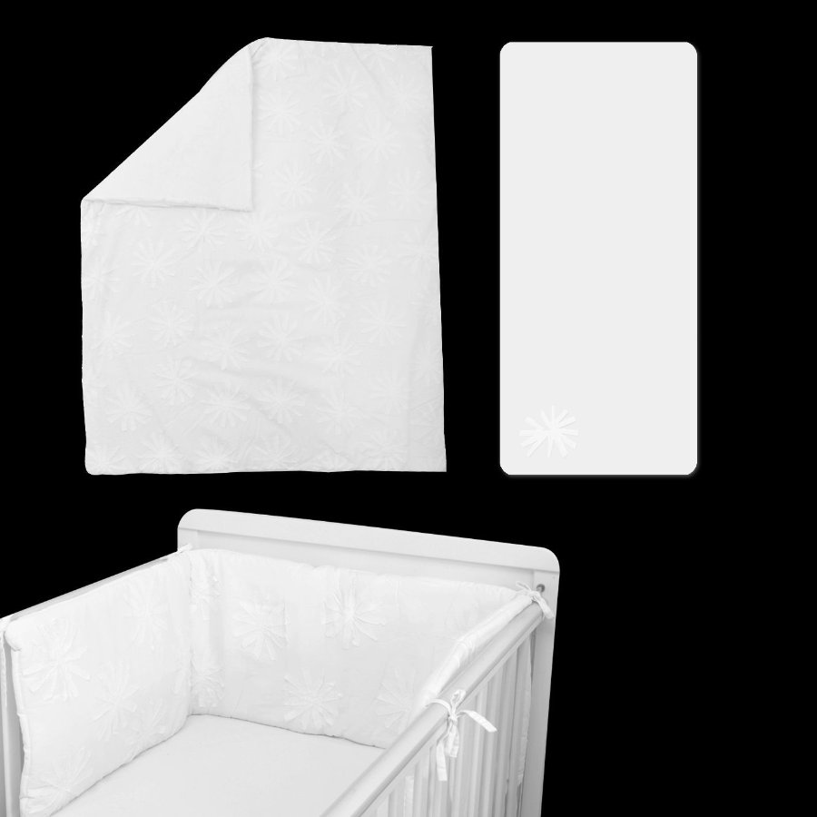 toTs by smarT rike ® - Beddenset Pure White Flower