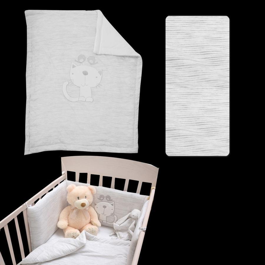 toTs by smarTrike® Parure de lit classique mélange gris
