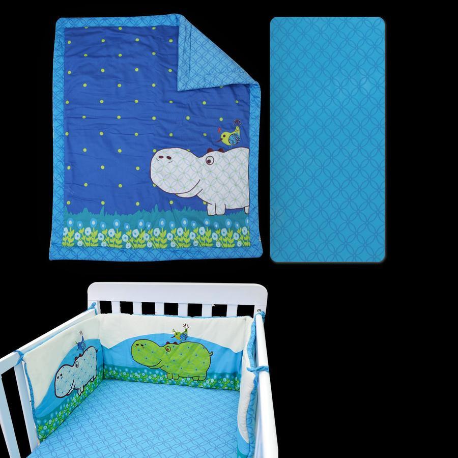 toTs by smarTrike® -  Sengesæt Joy Hippo, blå