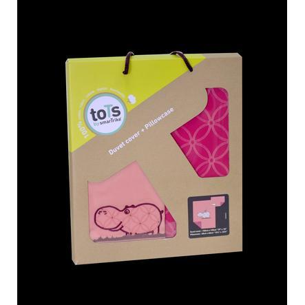 toTs by smarTrike® - Set biancheria lettino Joy Hippo, pink