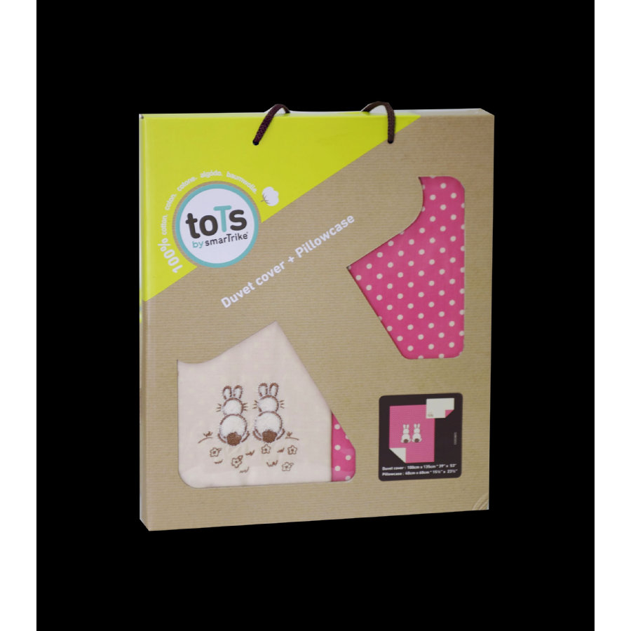 toTs by smarTrike® - Set biancheria lettino Joy Rabbit, pink