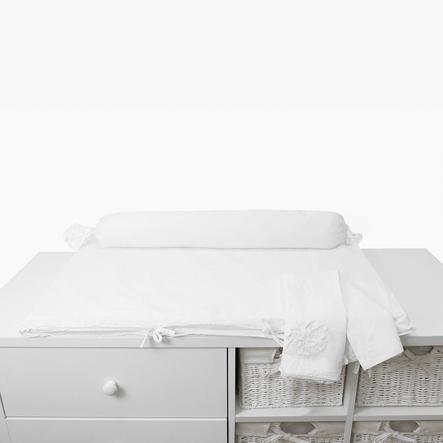 toTs by smarTrike® - Materassino fasciatoio Pure White Flowers 100x80x4cm